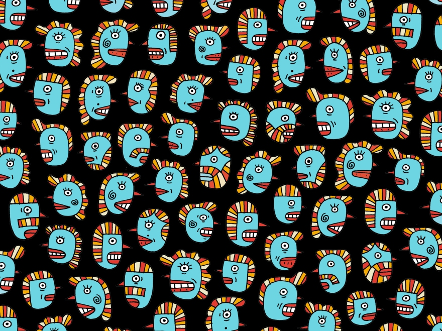BLUEHEADS FABRIC DESIGN